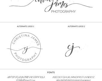 Premade Branding Package, Mini Branding Set, Handwritten Initials, Premade Logo Design Template, Logo Design Branding, Logo Set, s120