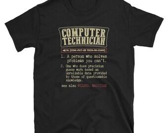 Computer Technician Shirt Definition Gift  Tee