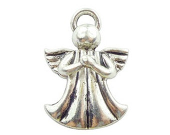 5 pcs - Praying Silver Angel Charm 32x21mm - Ships from Texas by TIJC - SP0665