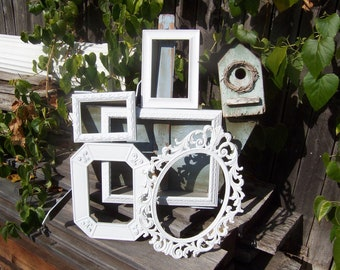 Rustic Shabby Chic White Frames - Farmhouse PICTURE FRAME Set - Ornate Gallery Wall Frames - Nursery Frames - Vintage Picture Frames