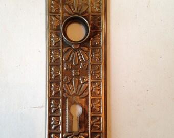 Antique Decorative St&ed Door Plate & Antique door plate | Etsy