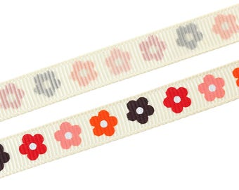 1 meter Ribbon ECRU flowers width 10mm for jewelry Creations