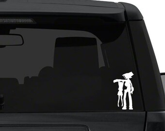 FLCL canti and mimi- Anime Decal for Cars, Windows, Wall, Macbooks, Laptop, iPad, iPhone, Nintendo 3ds, XBox, Playstation etc
