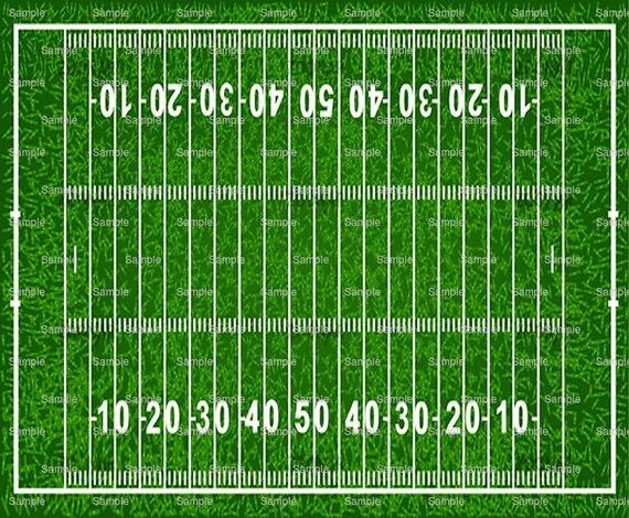 Football Field Birthday - Edible Cake and Cupcake Topper For Birthday's and Parties! - D825