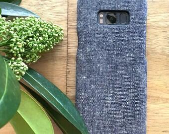 fabric phone cases Blue White, iPhone 8 plus Case, iPhone 7 Plus Case, iPhone 7 Case, iPhone X Case, iPhone 6 6s, iPhone 8 Case, Phone Case