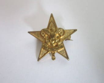 Vintage Boy Scouts of America Rank Pinback Star Scout
