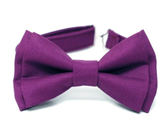 Boys tie small pre-tied - Purple Solid - Notch SOLID Lavender Notch vYEXv58