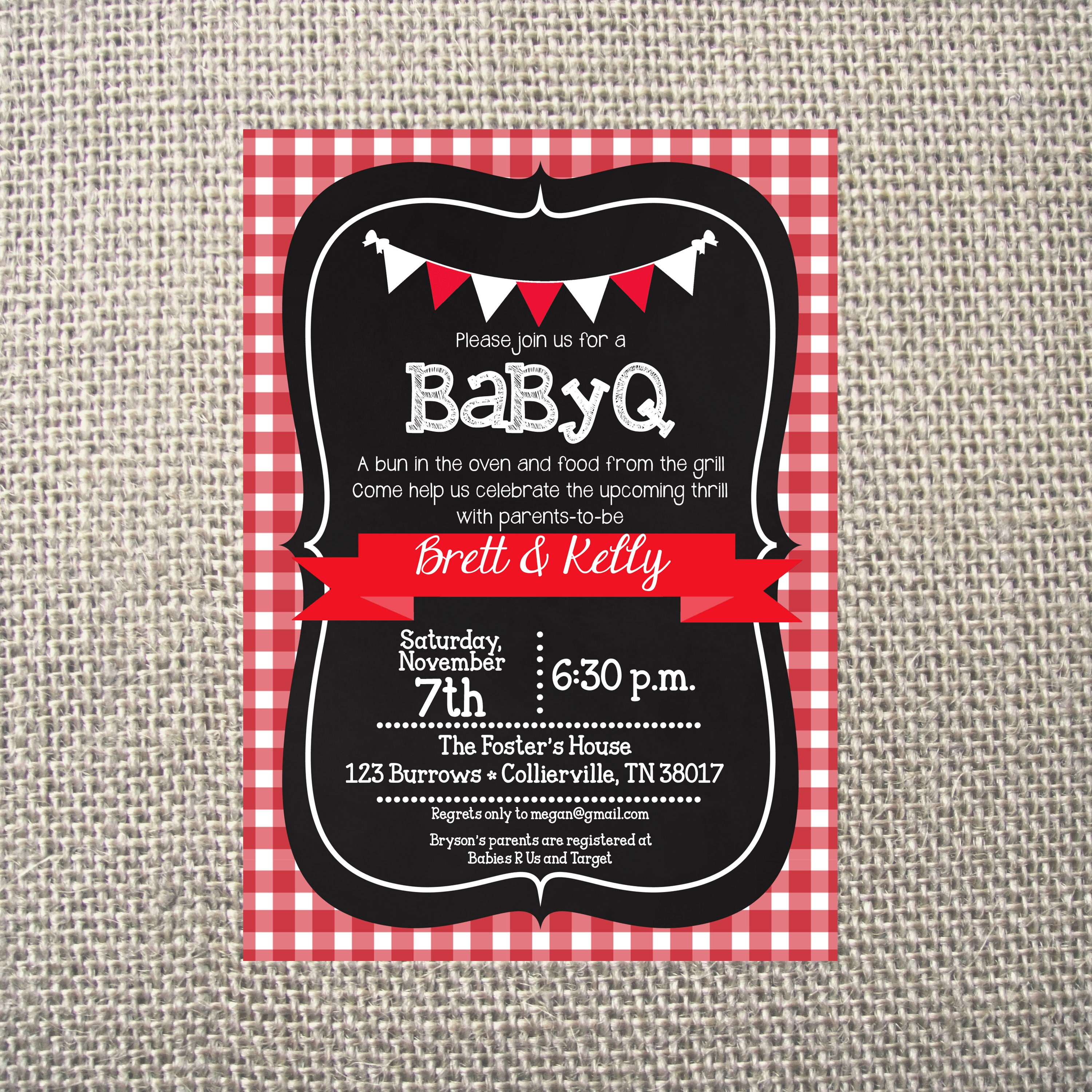 PRINTED or DIGITAL | BabyQ BBQ | Baby Shower Invitations | Backyard ...