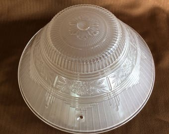 Vintage Art Deco glass shade ceiling fixture replacement dome shade