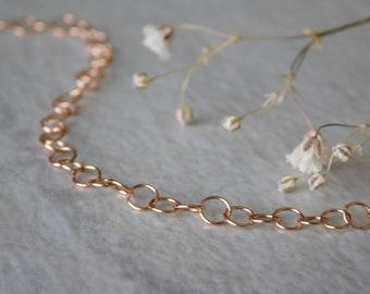 14k Rose Gold Extender Chain