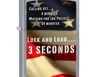 Second Amendment Lock & Load Zippo Lighter