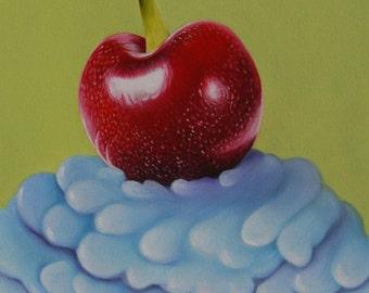 Cherry Cupcake Giclee Print