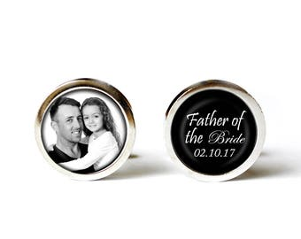 Father of the Bride Gift from Bride Gifts for Dad Cufflinks, Father Daughter Gift, Custom Cufflinks, Wedding Cufflinks, Wedding Accessories