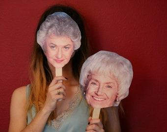 The Golden Girls photo booth, Golden Girls photo booth props, Golden Girls party, Dorothy,  Rose, Sophia, Blanche