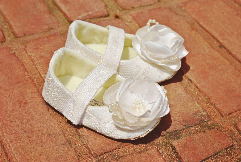 Ivory Flower Girl Shoes Ivory Flower Girl Shoes Pazitos Girls