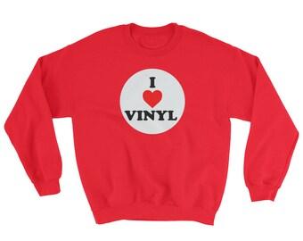 I Love Vinyl - Crew Neck Sweatshirt