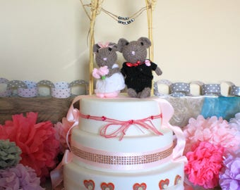 taxidermy mouse wedding cake topper etsy your place to buy and sell all things handmade 20767