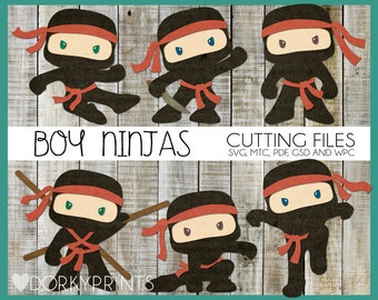 Ninja Cuttable Files -For Use with Cutting Machines - svg, mtc, pdf, gsd, and wpc files, Ninja SVG