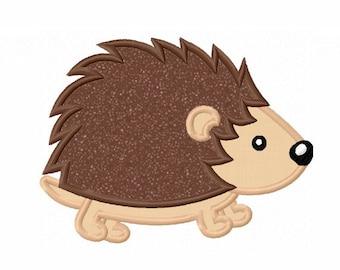 Porcupine Hedgehog Applique Machine Embroidery Design NO:0050