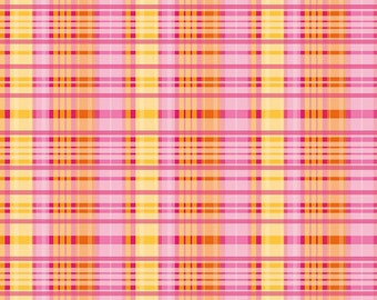 Primavera Plaid in Tangerine Cotton Fabric by Patty Young for Riley Blake