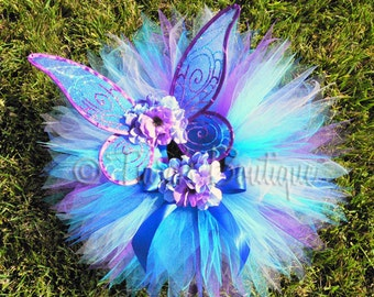 Blue Purple Lavender Handmade Fairy Wings - Raina - Infant Pixie Wings for Girls, Baby, Toddlers - First Birthday Photo Prop - WINGS ONLY