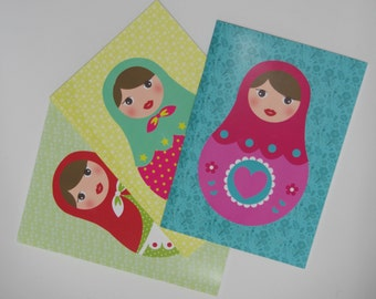 Set of 3 notebooks matryoshka