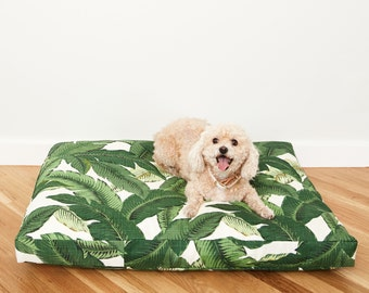 Palm Frond Dog Bed // Quick Ship // Medium