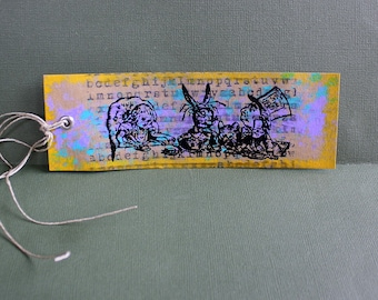 Mad chapeliers Tea Party marque page en papier cartonné - deux de Six pouces