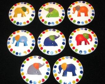 ELEPHANT - 2 Inch Drawer Knobs - Set of 8