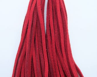 Red Faux Suede Tassels with Silver Caps, 85mm Large Tassels, Red Tassels, 2 pieces, SRT1, Diy Supplies, Zardenia