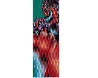 BPFR0004 Fractal 4  Even Count Single Drop Peyote Cuff/Bracelet Pattern