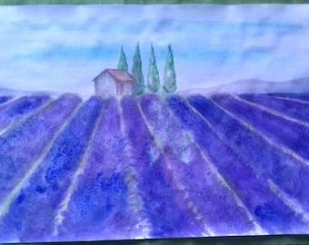 Lavander field landscape