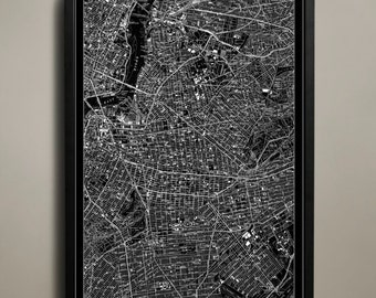 BROOKLYN Map Print, Black and White Brooklyn Wall Decor