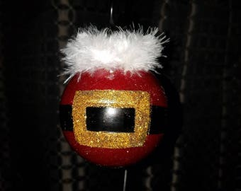 Santa's Buckle Hand Painted