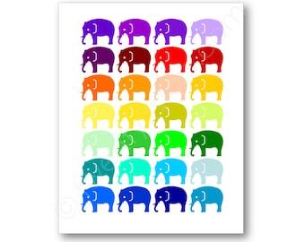 Elephants Name Poster, Elephant Nursery Art Print, Elephant Baby Shower Gift, Elephant Room Art, Elephant Nursery Poster, Elephant Canvas