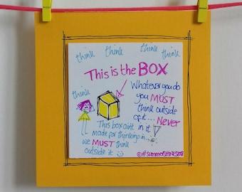 THE BOX Greetings Card