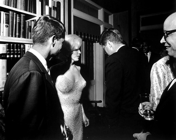Marilyn Monroe With President John F. Kennedy & Robert Kennedy - 5X7, 8X10 or 11X14 Photo (AZ-039)