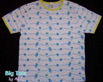 Adult Baby A Baby Boy  snap shoulder shirt ABDL