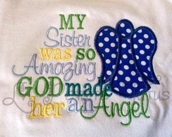 Angel shirt, sibling shirt, boy shirt, boy clothing, girls shirt, girls clothing, clothing, toddler clothing, baby clothing, baby onepiece