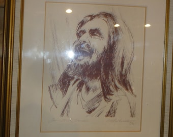 "Vintage 1970's Print ""Titled Jesus Christ Liberator""/ Signed W. L. Wheattey/Dated"