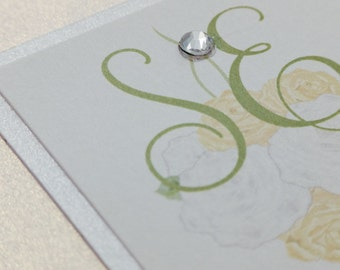 Spring Invitations, spring Wedding Invitation, spring Invitations, green and gold invitation, flower wedding invitations, green invitation