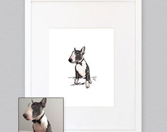 Custom Pet Portrait.  Custom Dog Portrait. Cat Portrait. made to order. Personalized. Digital delivery. Gift