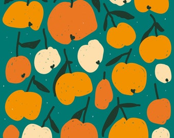 Impression d'agrumes oranges