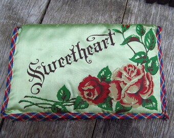 Vintage Sweetheart Lingerie Bag - Military Sweetheart Memorabilia - Norfolk, Virginia Naval Station