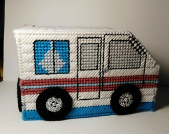MOTORHOME TISSUE TOPPER - Boutique size Tissue Cover - Home Away From Home - Travel - Camping