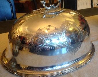 Silver dome cover