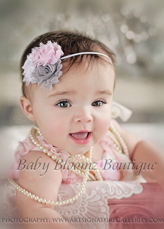 Items Similar To Baby Headband Baby Girl Headband Gray