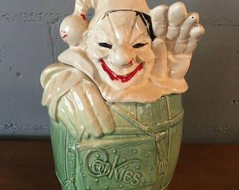 Vintage 1950s McCoy Clown Cookie Jar