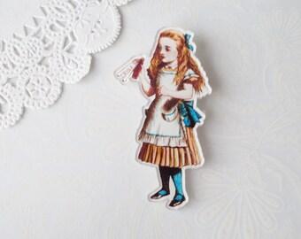 Acrylic Alice Brooch