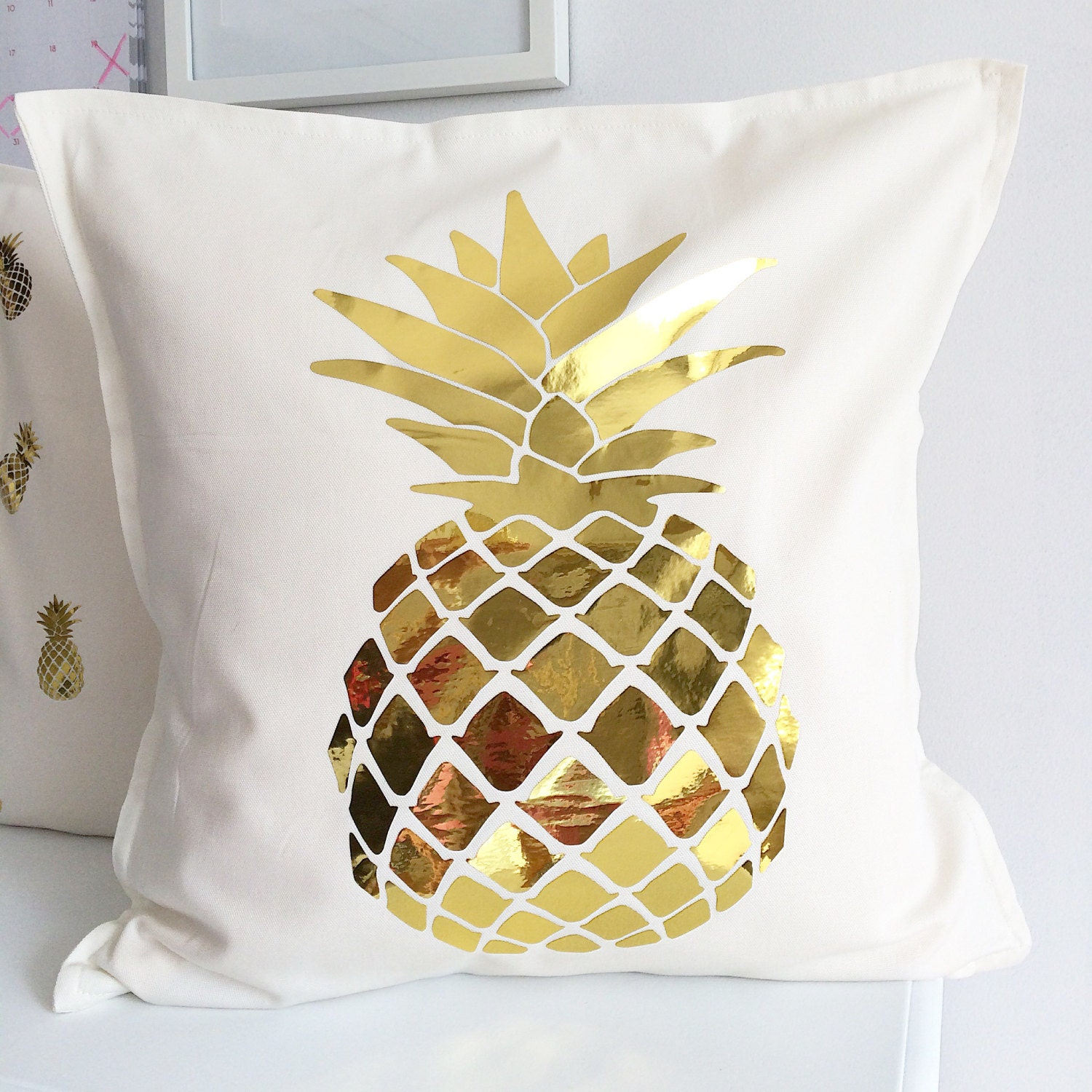kitchen gold cushion home case amazon pineapple x throw cotton com pillow cover dp inch linen